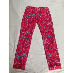 """Lilly Pulitzer Cropped Pants in """"Flirty Sea"""""""